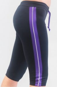 Tights with Silver & Purple Trim
